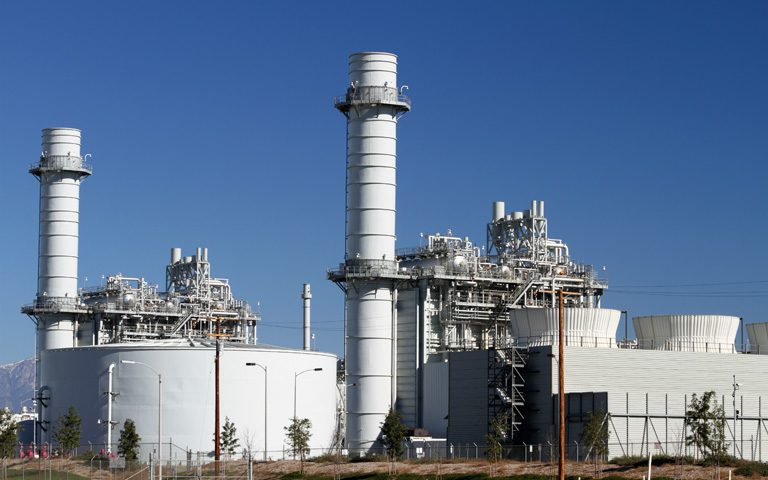 Typical Gas Turbine Power Plant in California