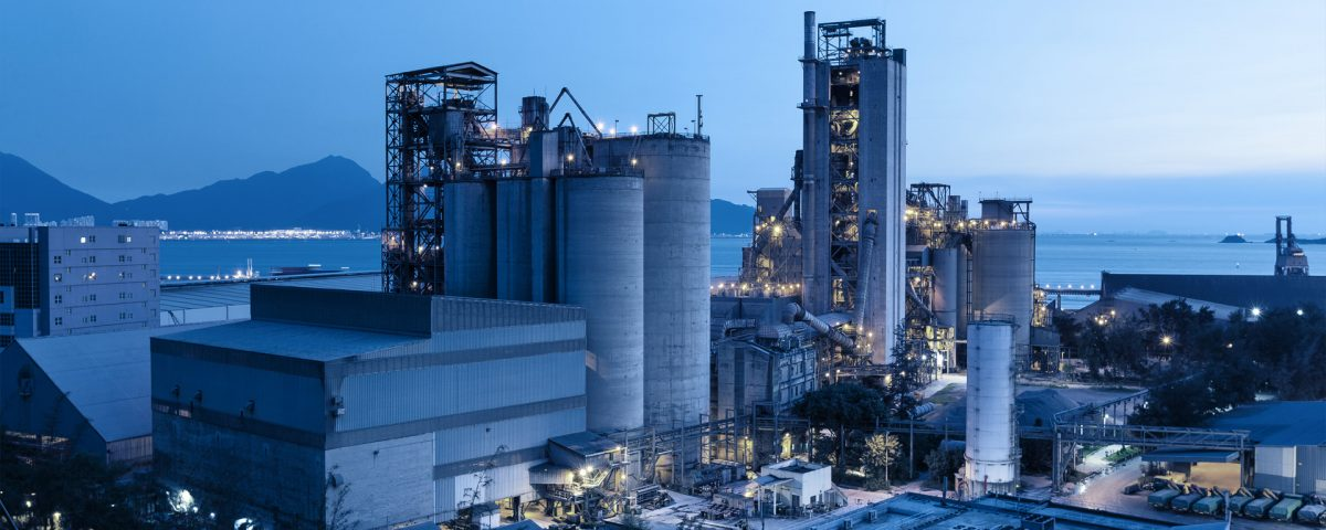 Industrial Utility Plant at Night