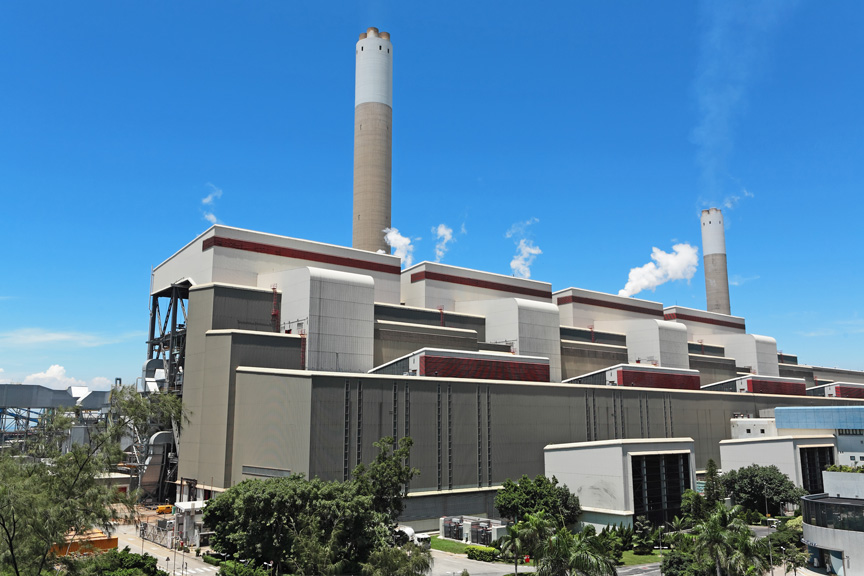 Coal Burning Power Plant Station