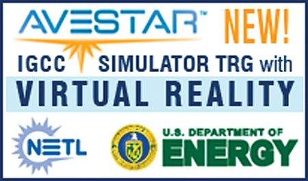 Avestar & IGCC Simulator Training Program with NETL logo