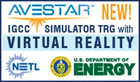 Avestar & IGCC Simulator Training Program with NETL logo