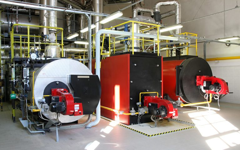 Typical Gas Steam Boiler at a Combined Cycle Power Plant