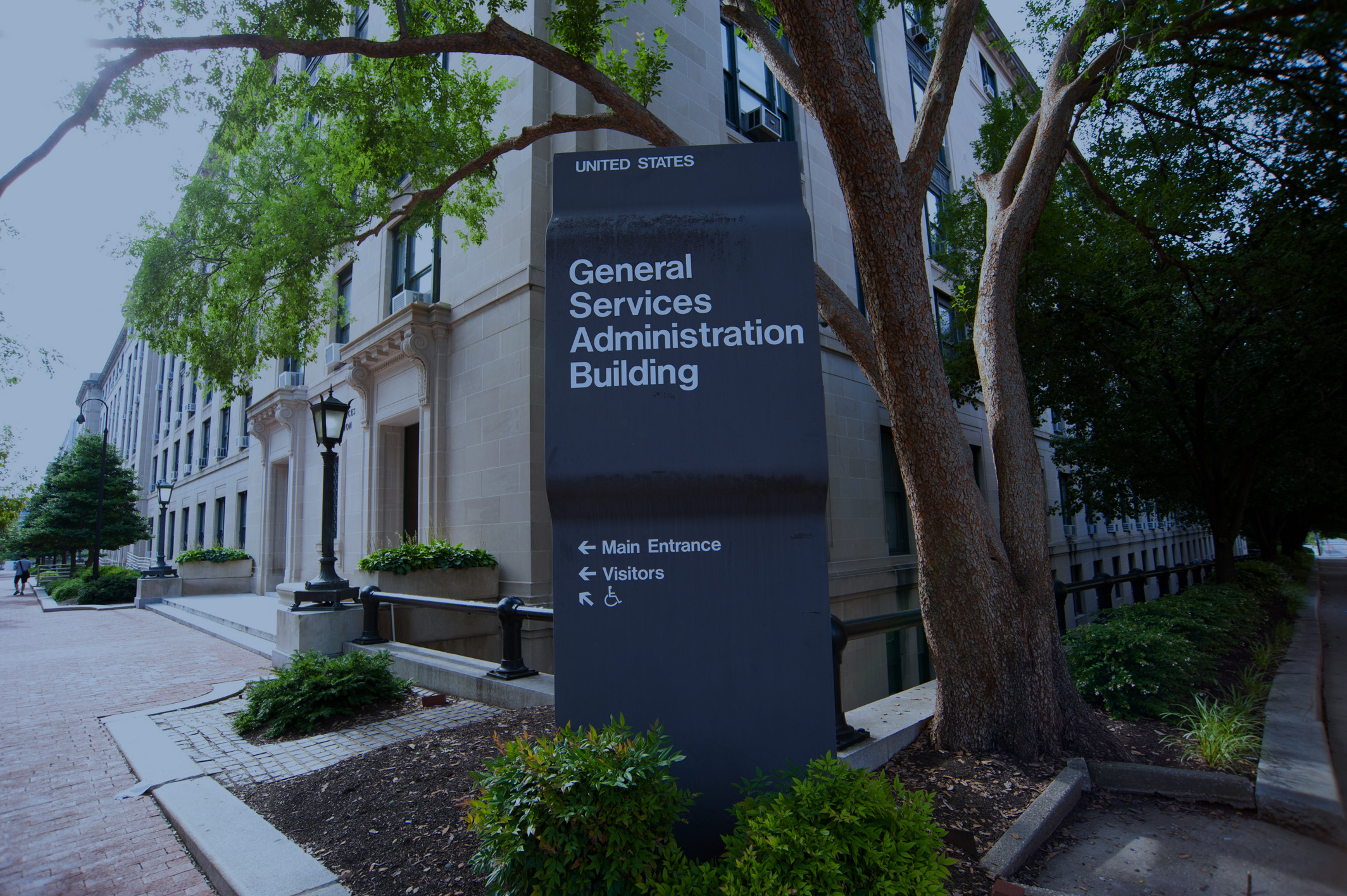 GSA Building front entrance sign