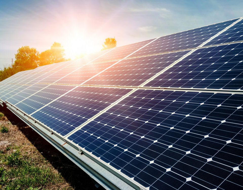 Solar Panels in Sunlight for Power Generation