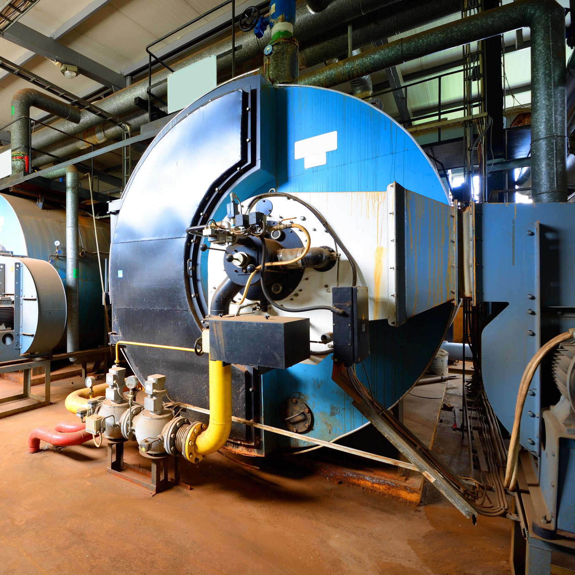 Large Blue Boiler