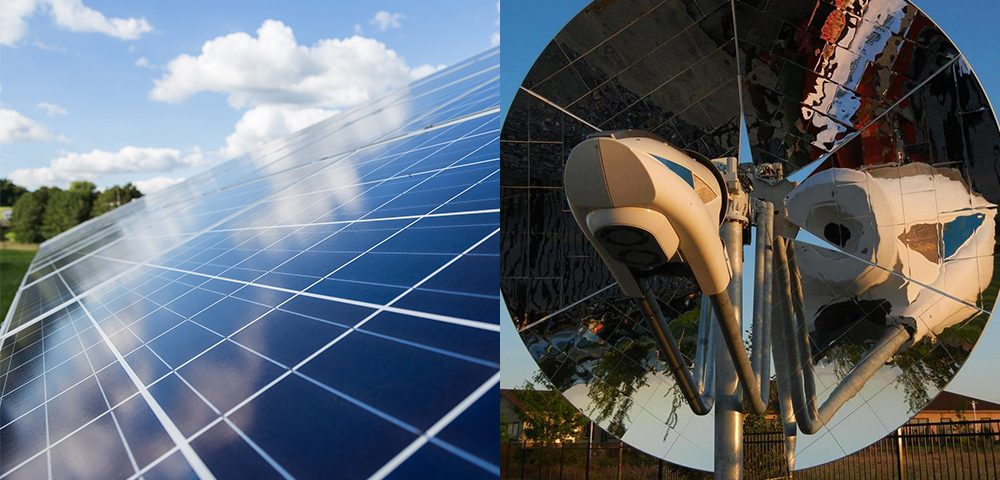 Solar Energy Panels and Dish