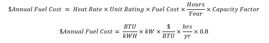 Heat Cost Equation 1