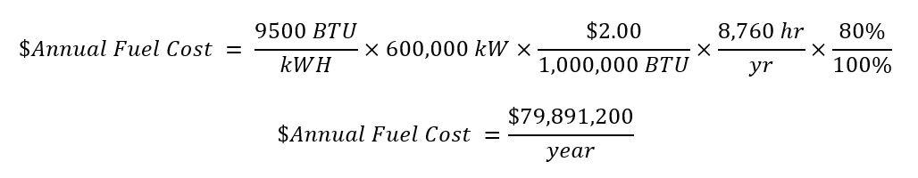Heat Cost Equation 2