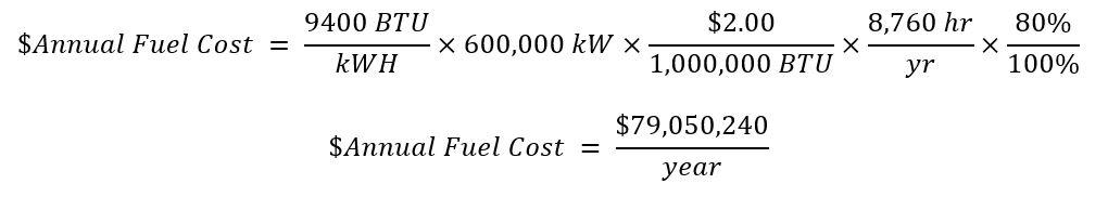 Heat Cost Equation 3